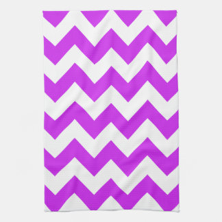 Purple Bold Chevron Tea Towel