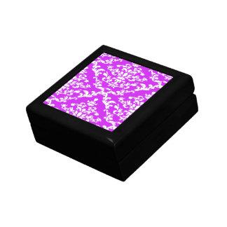Purple Bold Damask Emporiomoffa Jewelry Boxes