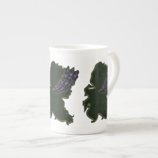 Purple Bonnet Cameo Bone China Mug