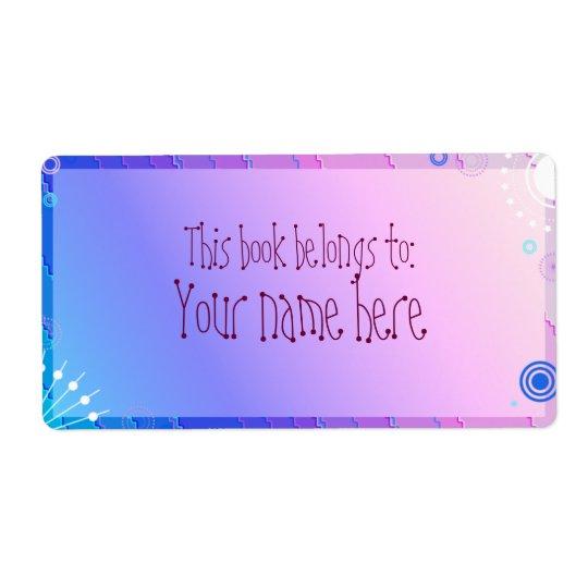 purple bookplate
