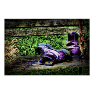 Purple Boots art print