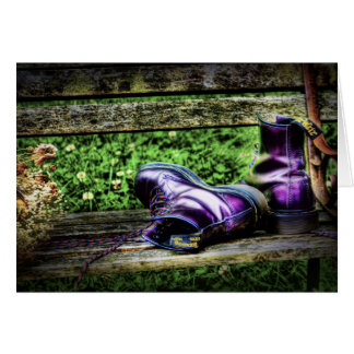 Purple Boots Card