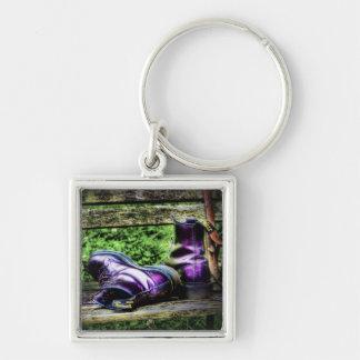 Purple Boots Keychain