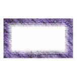 Purple Border Business Card