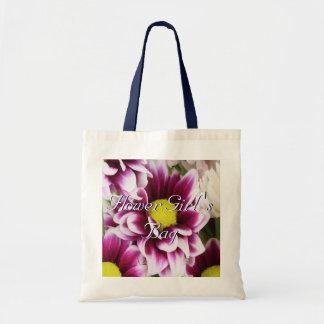 Purple Bouquet Flower Girl Tote Bags