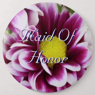 Purple Bouquet Maid Of Honor 6 Cm Round Badge