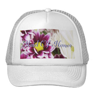 Purple Bouquet Maid Of Honor Trucker Hat