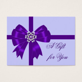 Purple Bow Lavender Purple Gift Certificates