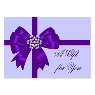Purple Bow Lavender Purple Gift Certificates Pack Of Chubby Business Cards