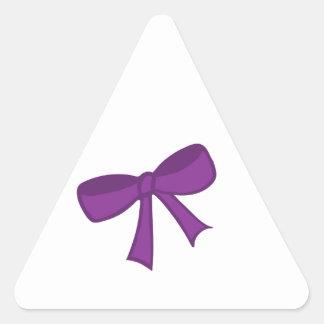 Purple Bow Triangle Sticker