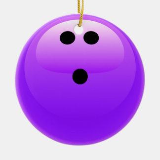 Purple Bowling Ball Christmas Ornament