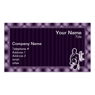 Purple Boxing Pack Of Standard Business Cards