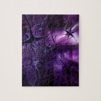 Purple Brain Neurons Jigsaw Puzzle