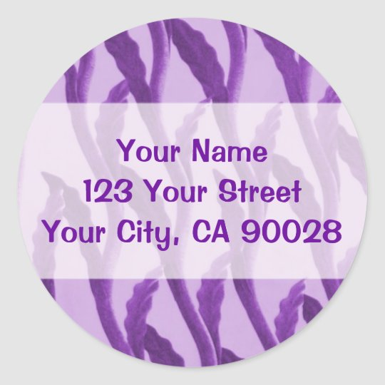 purple branches classic round sticker