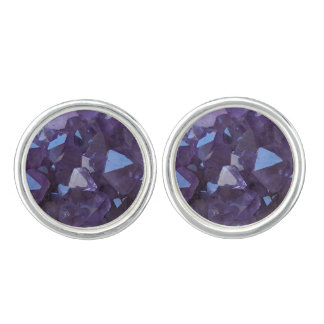 Purple Brazilian Quartz Amethyst Cuff Links