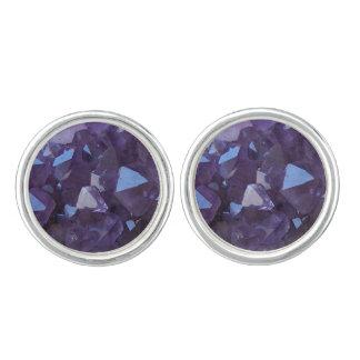 Purple Brazilian Quartz Amethyst Cufflinks