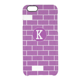 Purple bricks clear iPhone 6/6S case