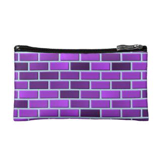 Purple bricks cosmetic bag