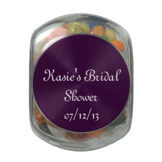 Purple Bridal Shower Candy Jar Glass Candy Jars