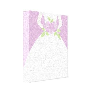 Purple Bride Gallery Wrapped Canvas