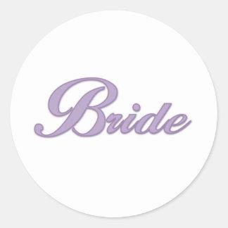 Purple Bride  Round Sticker