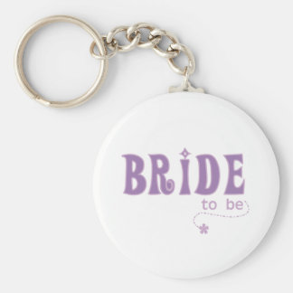 Purple Bride to Be Key Chains
