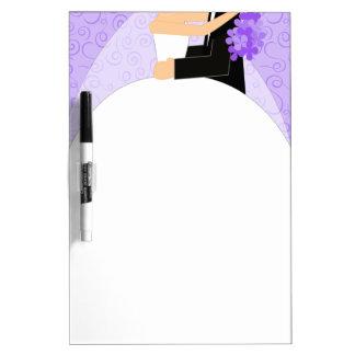 Purple Bride's To-Do List Dry Erase Board - medium