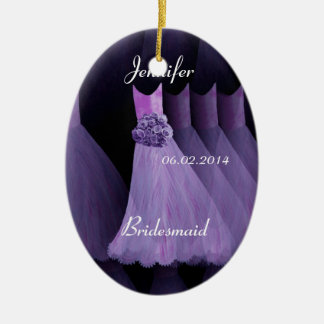 PURPLE Bridesmaid Thank You Wedding Ornament