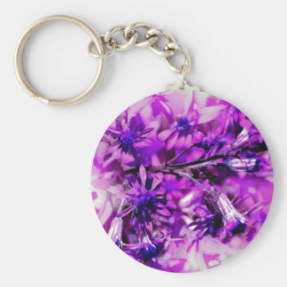 Purple brightly sharply basic round button key ring