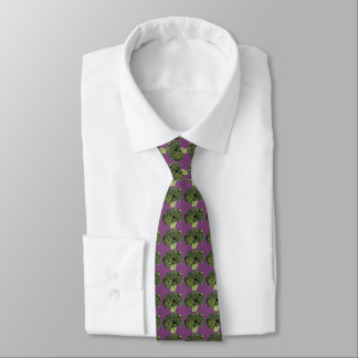 Purple Broccoli Tie