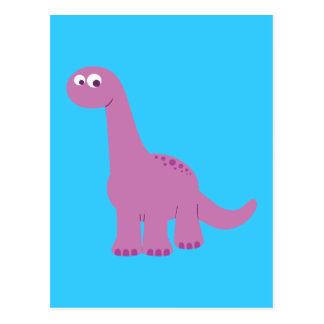 Purple Brontosaurus Dinosaur Postcard