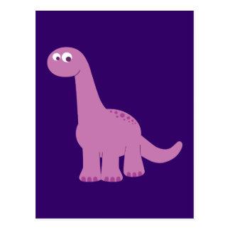 Purple Brontosaurus Dinosaur Postcards