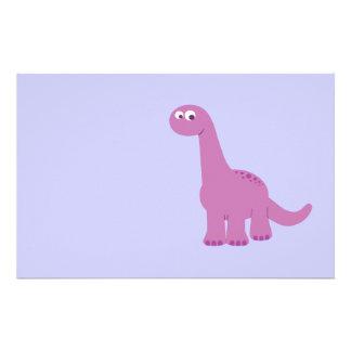 Purple Brontosaurus Dinosaur Stationery