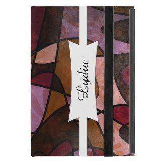 Purple, Brown, Burgundy Abstract Art, 5a iPad Mini Case