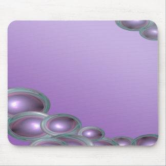 Purple Bubble Corner Mouse Mat