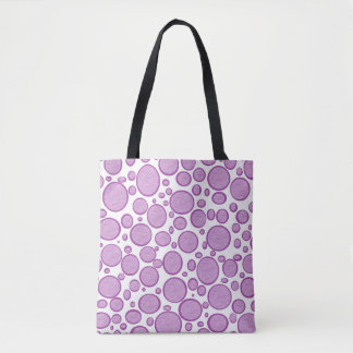Purple Bubbles Lightened Tote Bag