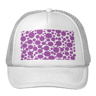 Purple Bubbles Mesh Hat