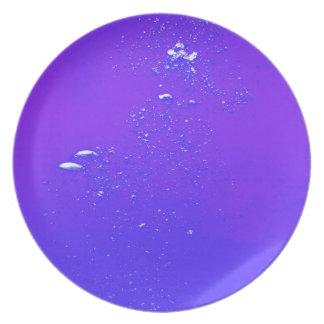 Purple bubbles plate