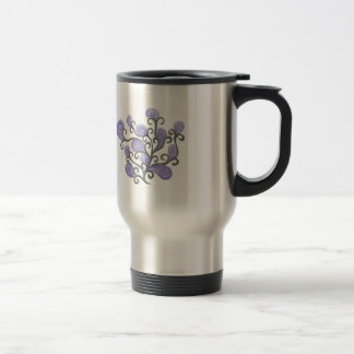 Purple Bud Flower Motif Mug