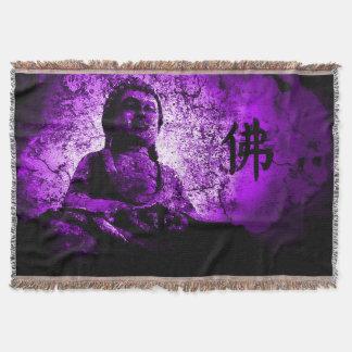 Purple Buddha Wisdom Throw Blanket