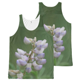 Purple Buds All-Over Print Tank Top