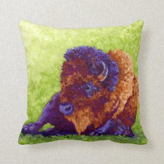 Purple Buffalo Throw Pillow