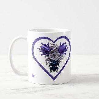 Purple Bugs in Heart Left-handed Mug