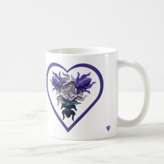 Purple Bugs in Heart Mug