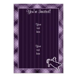 Purple Bull Rider 13 Cm X 18 Cm Invitation Card