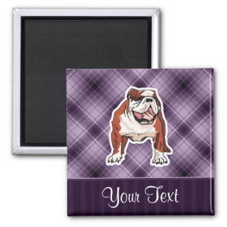 Purple Bulldog Magnet
