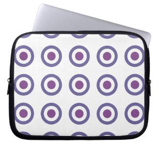 Purple Bulls-eye Laptop Sleeve