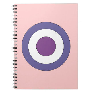 Purple Bulls-eye Notebooks