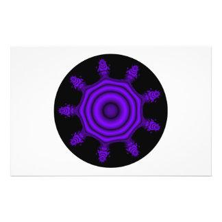 Purple Burst. Fractal Art. Purple and Black. Flyer
