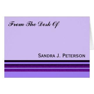 Purple Business Stripes Card